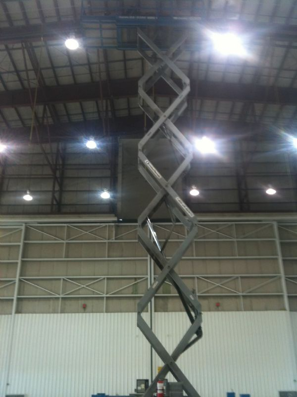 Scissor lift in action